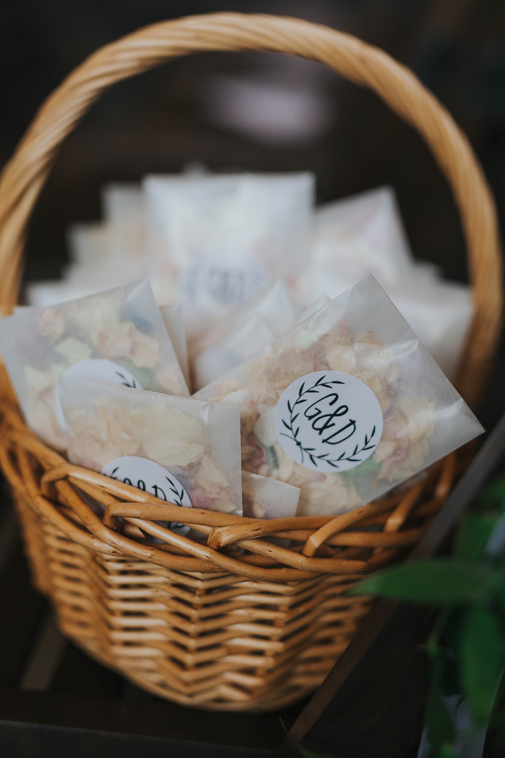 Biodegradable Confetti | Wedding Confetti Basket | Rose Petal Confetti