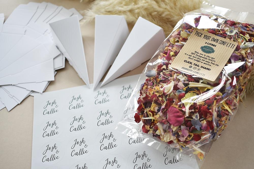 confetti | diy confetti cone | corona wedding