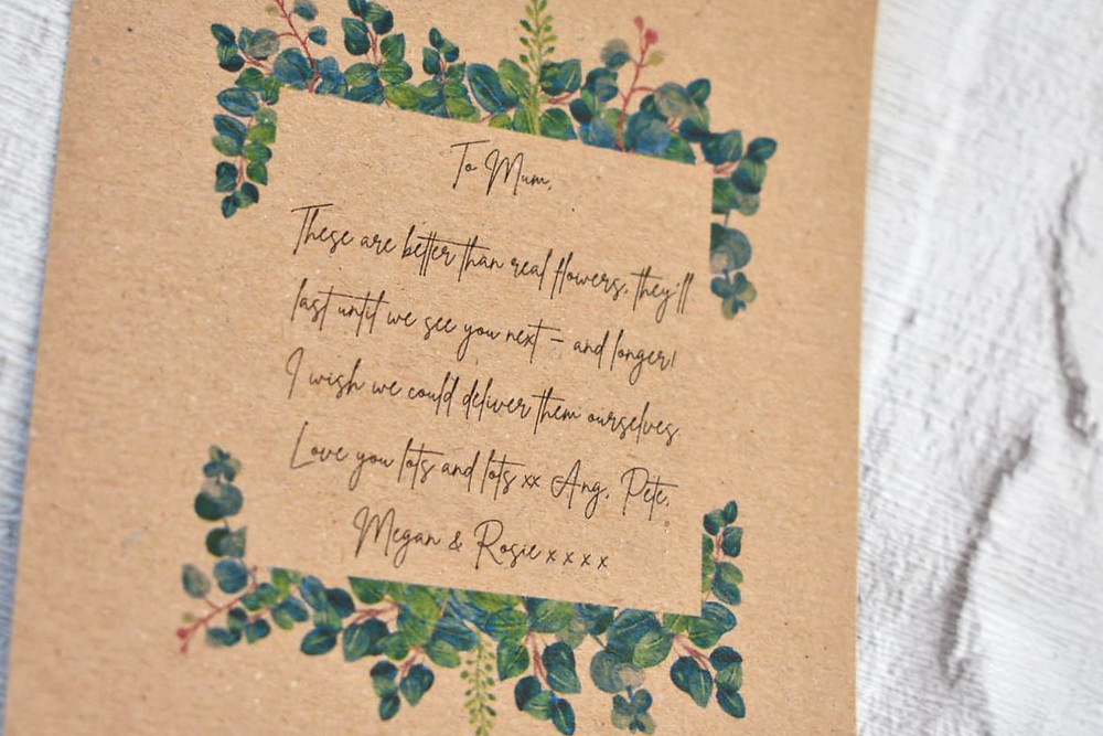 Message for mum | dried flowers | dried flower bouquet