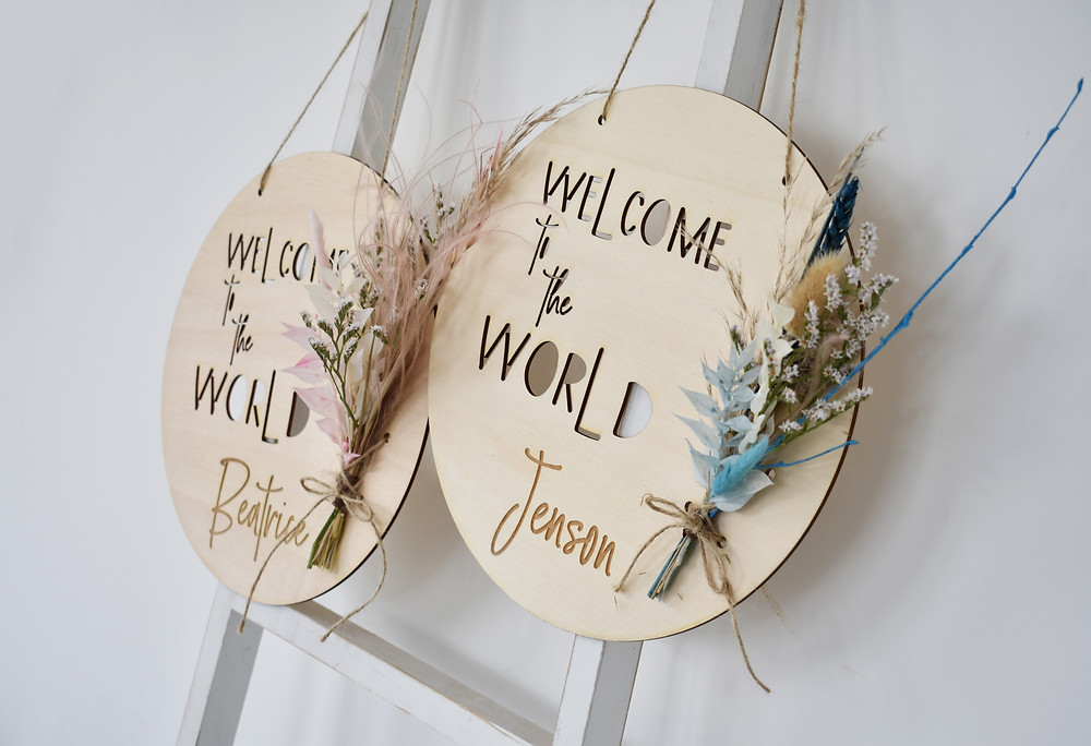 newborn gift  | interior decoration | Wooden wall decoration