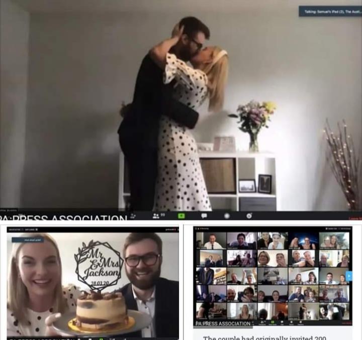 Zoom wedding | Virtual Wedding | Plugged in wedding