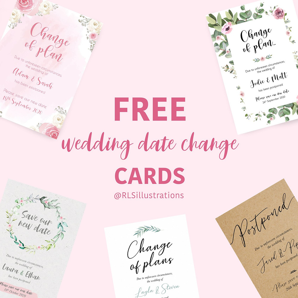 Change the date | Free Printables | Wedding Stationary