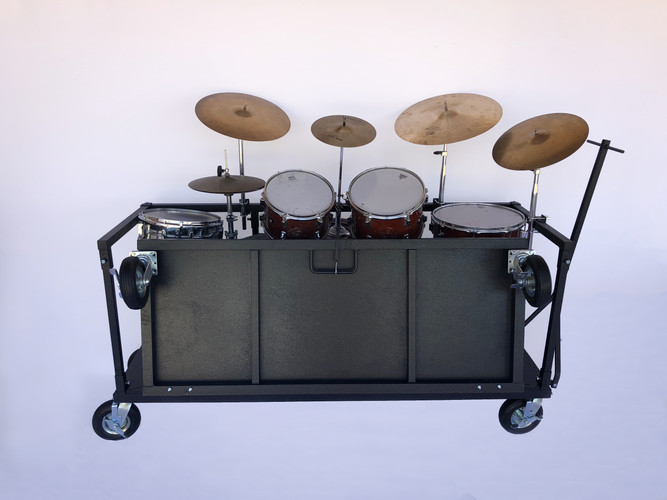 Drum Cart Stand Folded