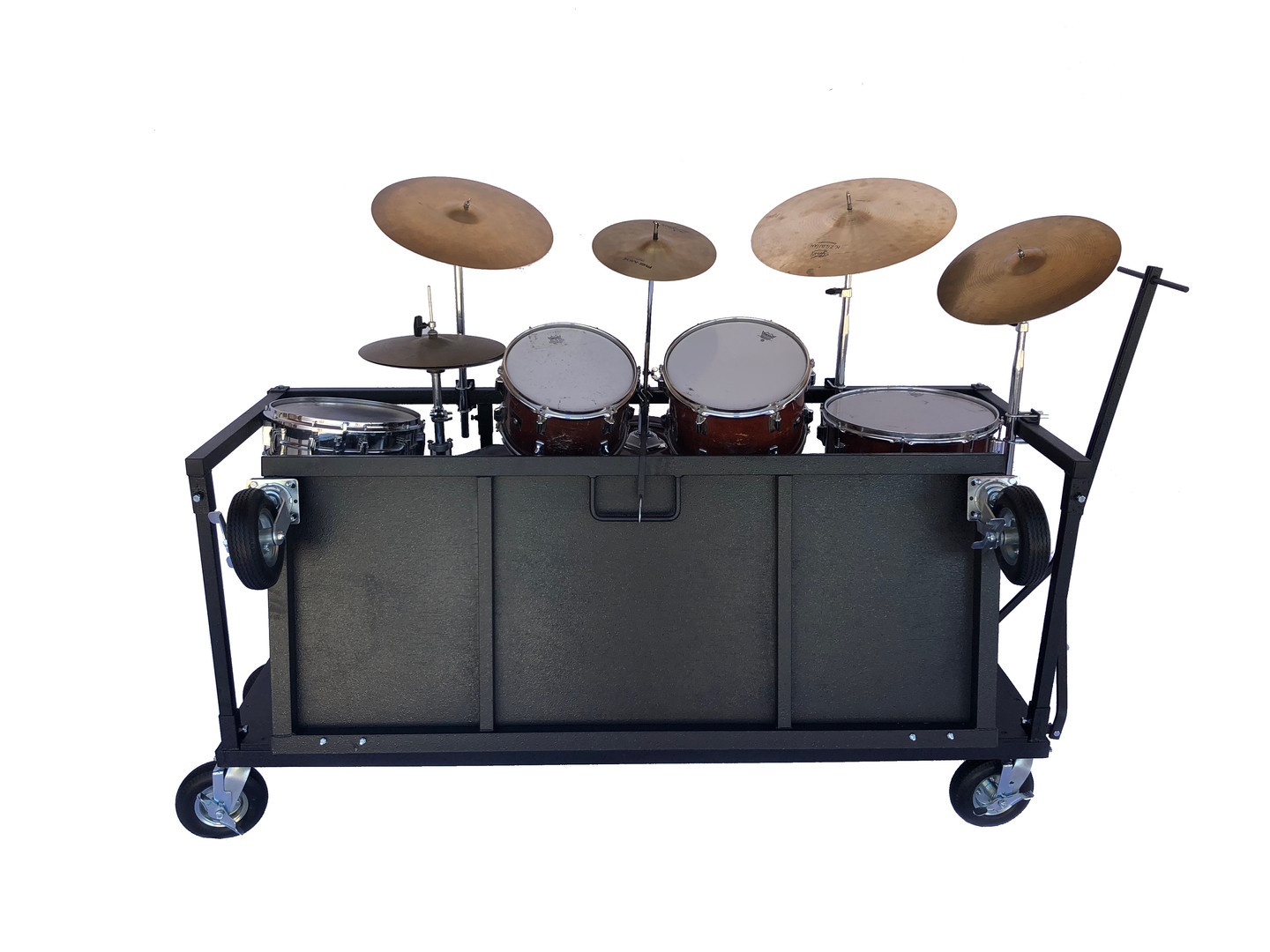 Drum Set Cart folded with Drums