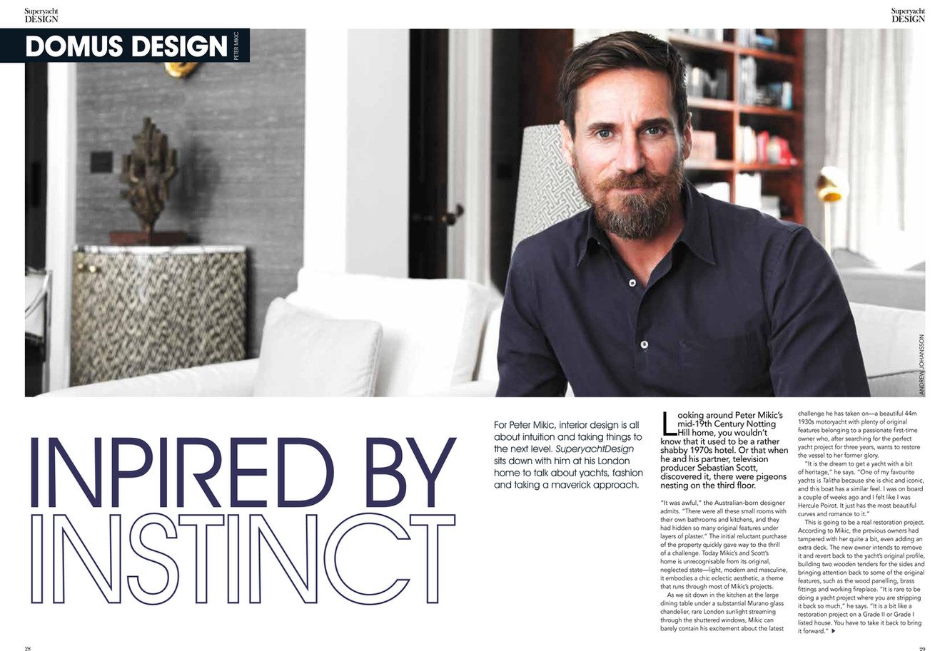 Meeting designer Peter Mikic, featured in Domus, SuperyachtDESIGN 24. Images by Andrew Johansson.