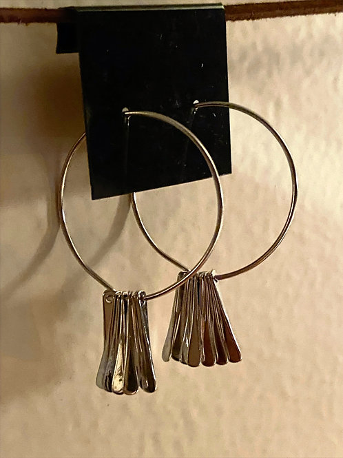 Matrix Drop Hoop Earrings