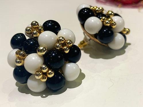 Cluster Earrings on Gold Setting