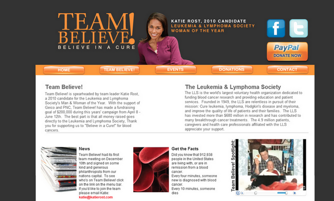 Katie Rost- Team Believe LLS