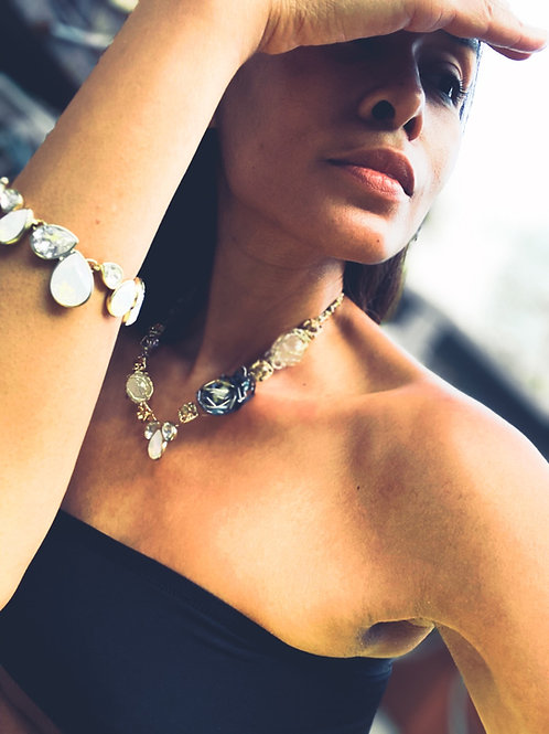 White Raindrop Bracelet