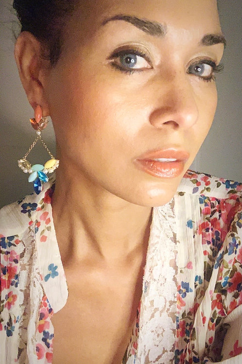 Crystal and Pearls Earrings