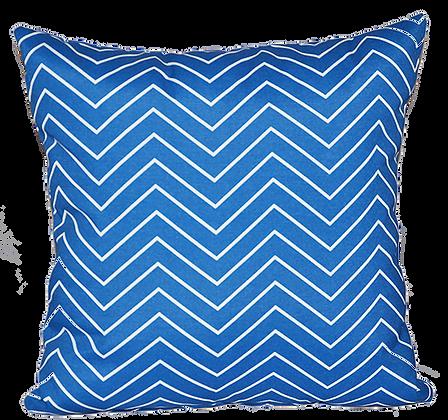 Outdoor Cobalt Chevron Throw Cushion