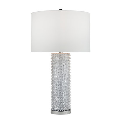 """31"""" Spiked Table Lamp Resin"""