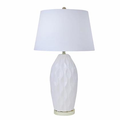 "Ceramic 32"" Ribbon Table Lamp Cream"