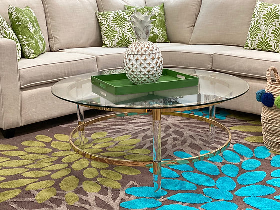 Camden Acrylic & Gold Coffee Table