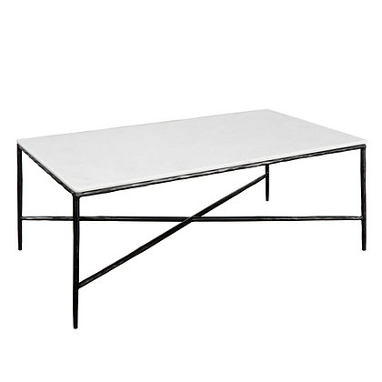 Metal/Marble Coffee Table, Black
