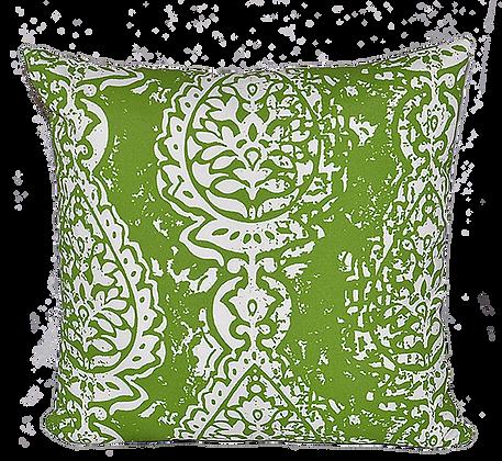 Outdoor Manchester Green Throw Cushion
