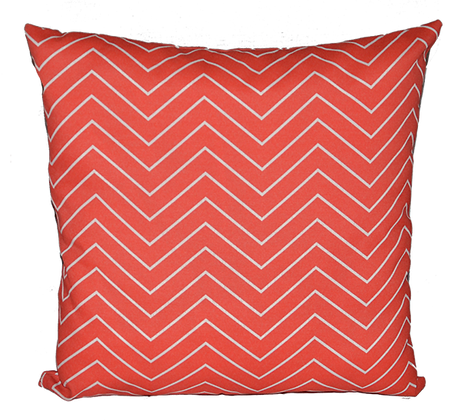 Outdoor Chevron Coral Throw Cushion
