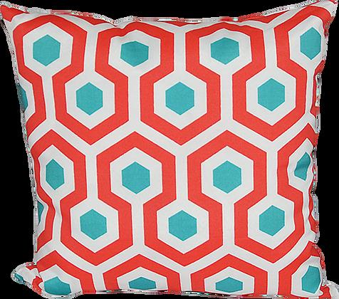 Outdoor Magna Coral Throw Cushion