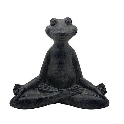 "16"" Yoga Frog, Black"