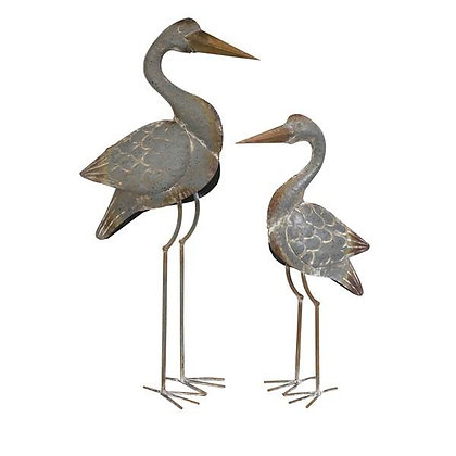 Fairfax Metal Cranes Set of 2