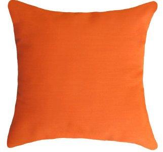 Outdoor Orange Throw Cushion