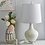 "Thumbnail: Glass 28"" Teardrop Lamp White"