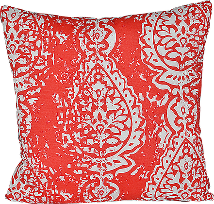 Outdoor Manchester Coral Throw Cushion