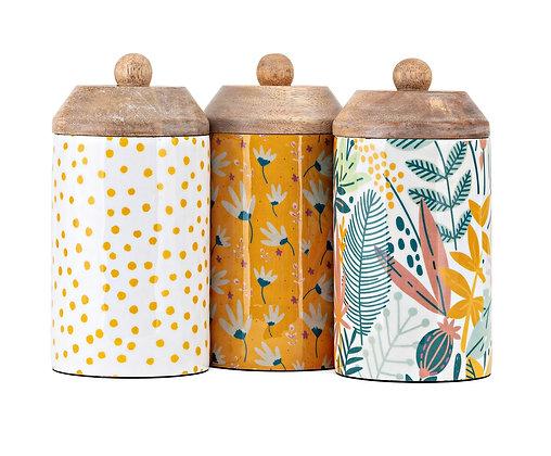 Marigold Enamel Decorative Containers