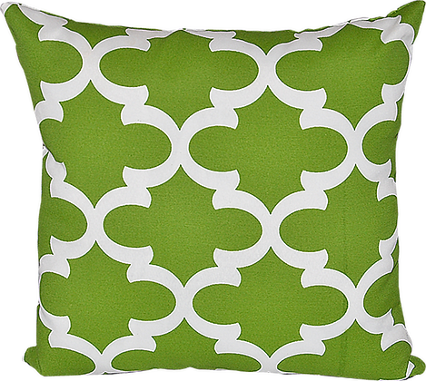 Outdoor Fynn Green Throw Cushion
