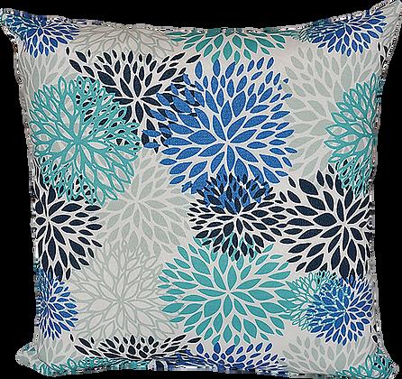 Outdoor Blooms Blue Throw Cushion