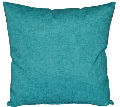 Outdoor Turquoise Throw Cushion