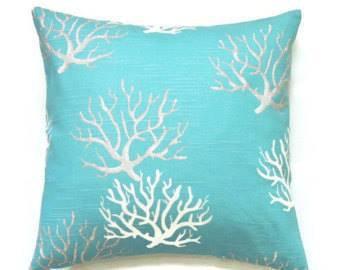Outdoor Isadella Turquoise Throw Cushion