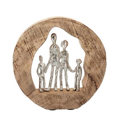 Alum Family in Mango Wood