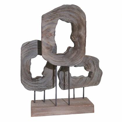 "23.5"" Cut Log Table Top Decor"