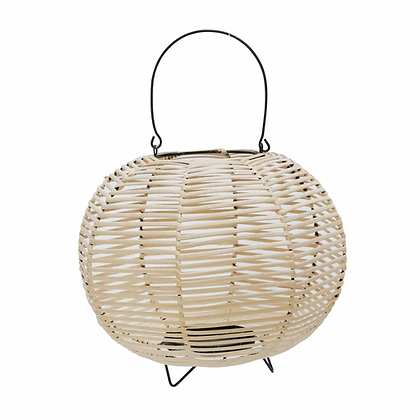 Round Wicker/Iron Lantern