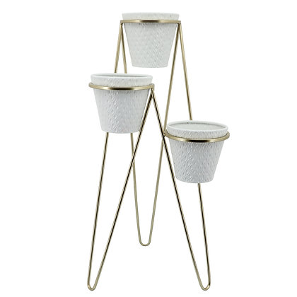 3 Tier Planter White/Black