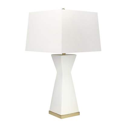 """34"""" Hourglass Table Lamp, White"""