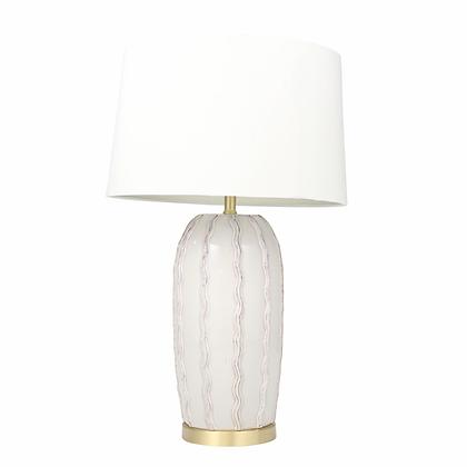"Ceramic 31"" Ribbon Table Lamp Ivory"