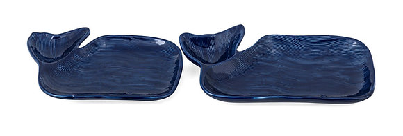 Nantucket Whale Plates - Set of 2