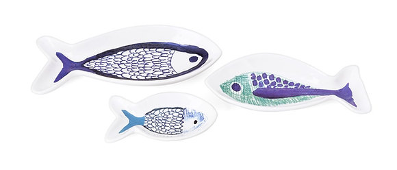 Harbour Artwork Fish Plates - Set of 3