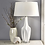 "Thumbnail: Resin 28"" Multifaceted Table Lamp White"