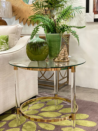 Camden Acrylic & Gold Side Table