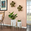 Thumbnail: Textured Planter on Metal Stand - Large