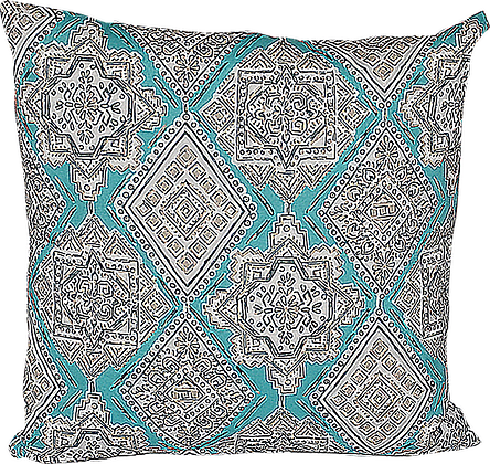 Outdoor Milan Turquoise Throw Cushion