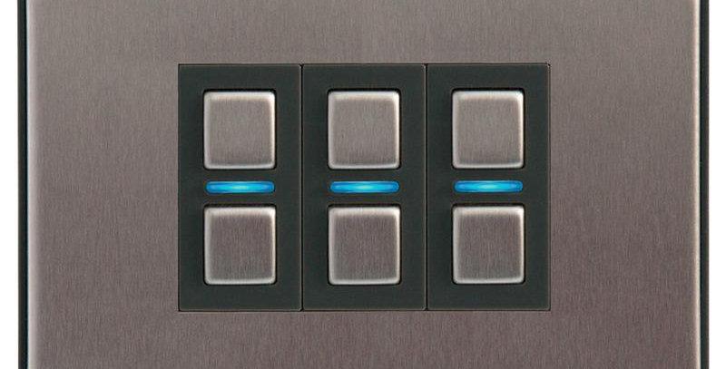 Întrerupător inteligent dimabil fără nul, 3 acționări, Lightwave, HomeKi