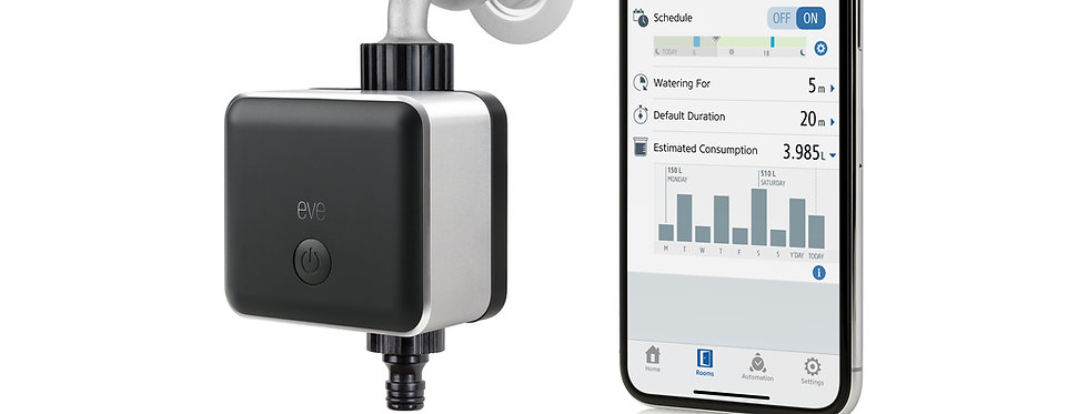 Robinet inteligent Elgato Eve Aqua water controller, HomeKit