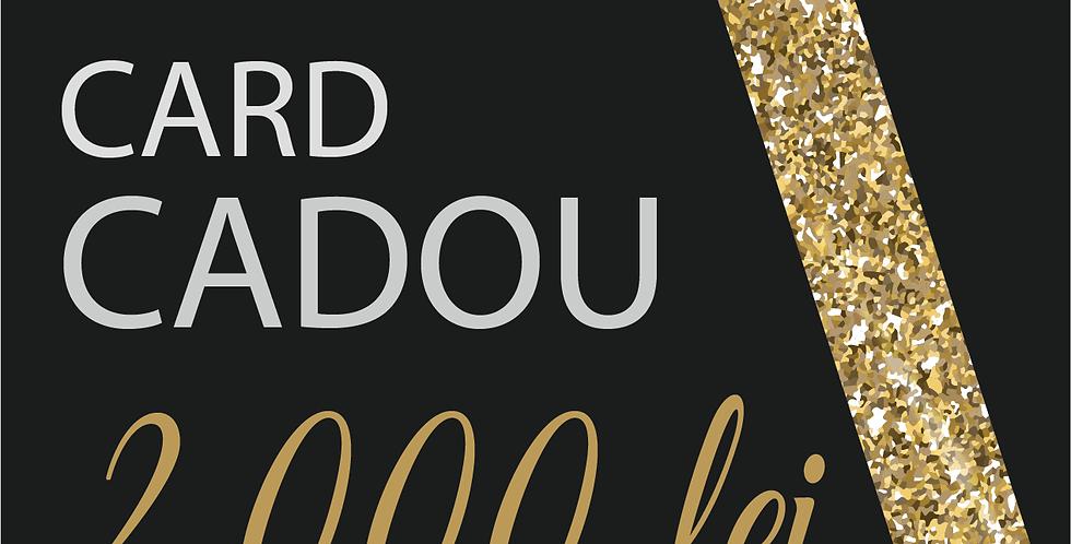 Card Cadou, 2000 lei