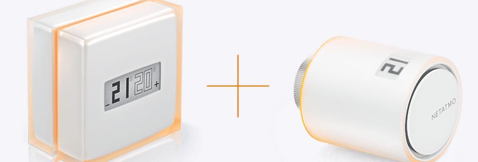 Pachet climatizare inteligentă wireless pentru centrală proprie, Netatmo