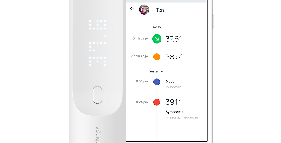 Termometru digital non contact inteligent Withings Thermo, Wi-Fi