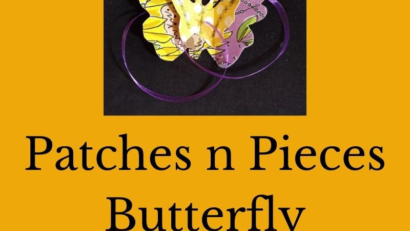 Patches n Pieces Butterfly Applique